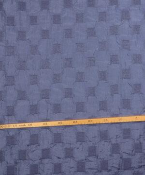 Kvadrater i blålilla - Polyester -