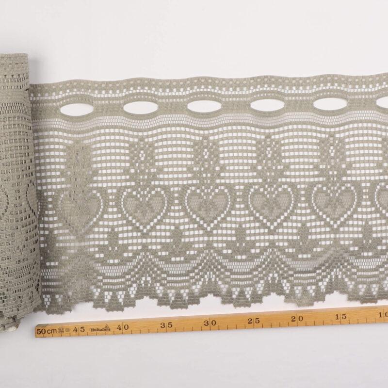 Cafégardin, grå - 25 cm høj -