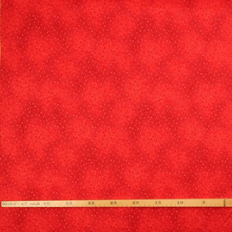 Rød m. miniblomster - Patchwork -