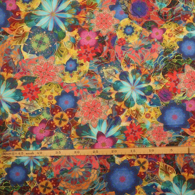 Farverige blomster - Patchwork -