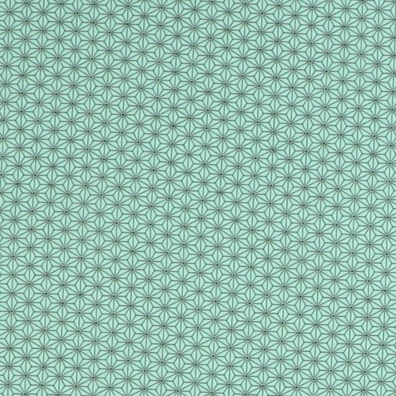 Stjerner, mørk mint/grøn - Patchwork -