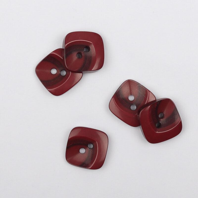 Rødbrun/brun, 18x18 mm -
