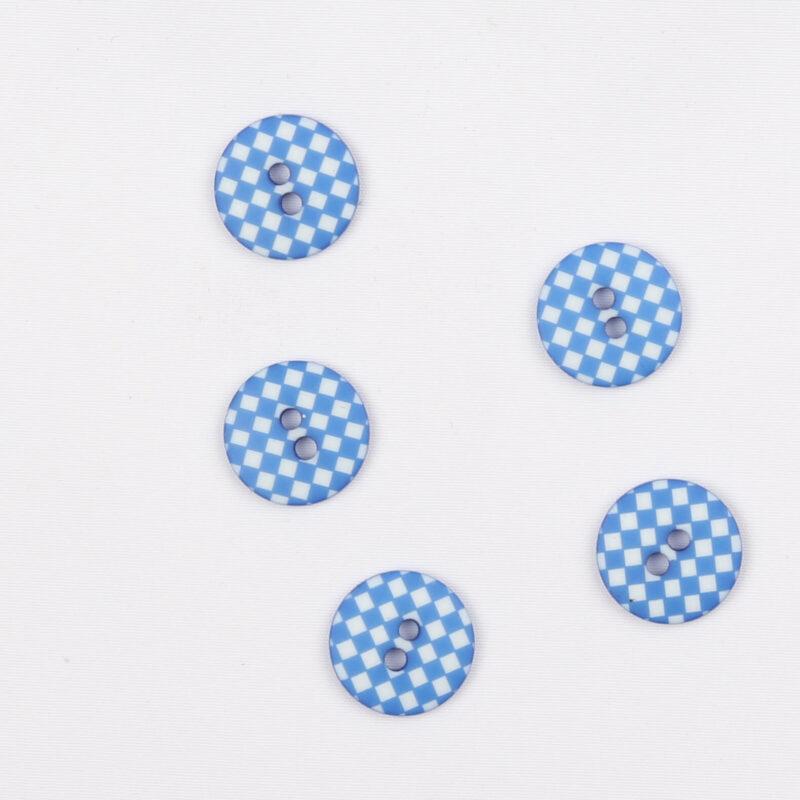 Blå m. hvid - 12 mm -