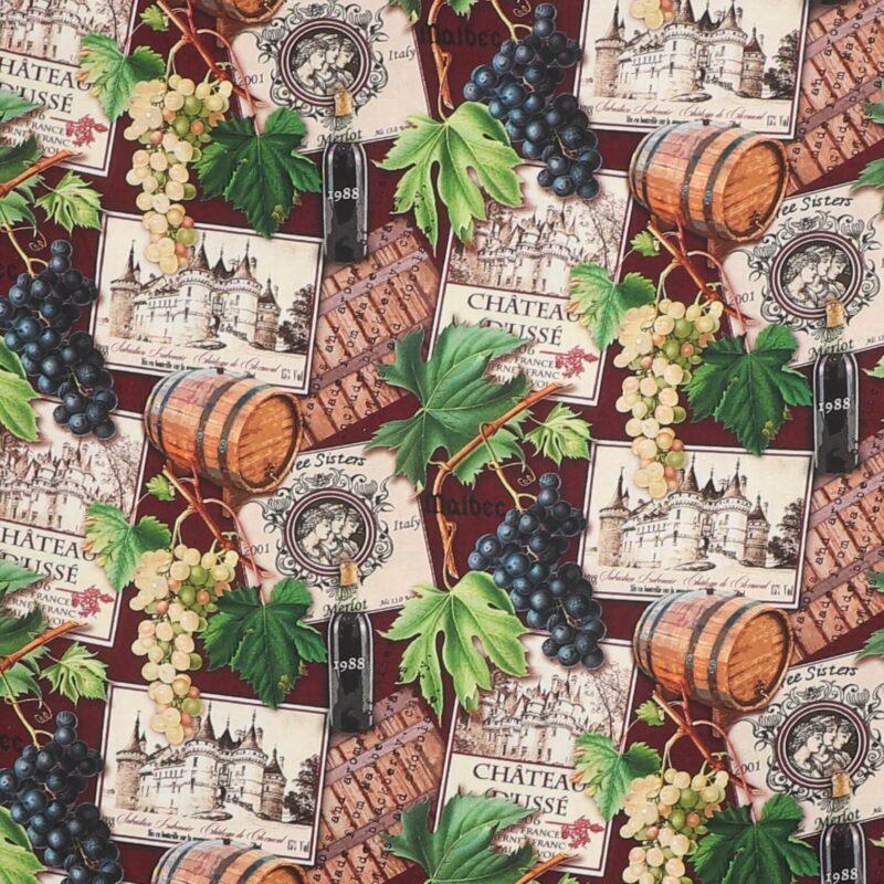 Vin, druer og tønder - Patchwork -