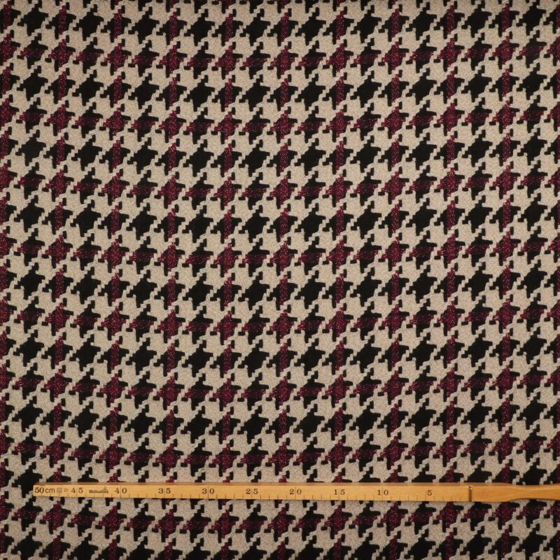 Hanefjed m. guldtråd - Uld/polyester -