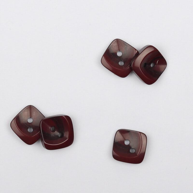 Mørk Rødbrun/brun, 14x14 mm -