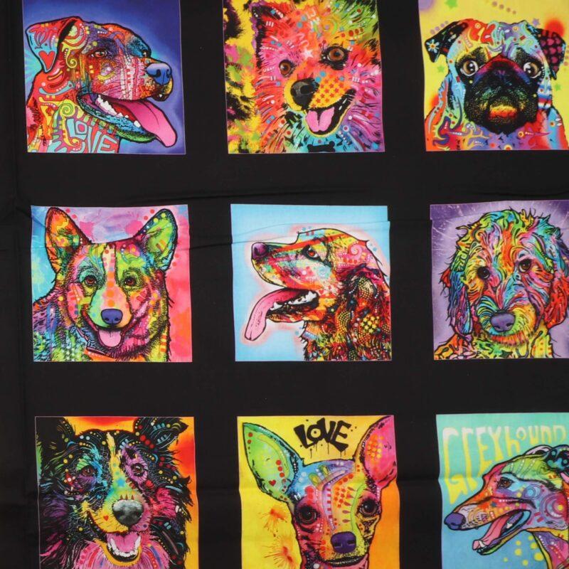 Multifarvet hunde - Patchwork rapport (111) -