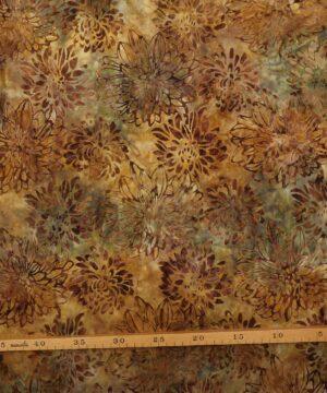 Blomstermønster i grøn/brun - Bali -