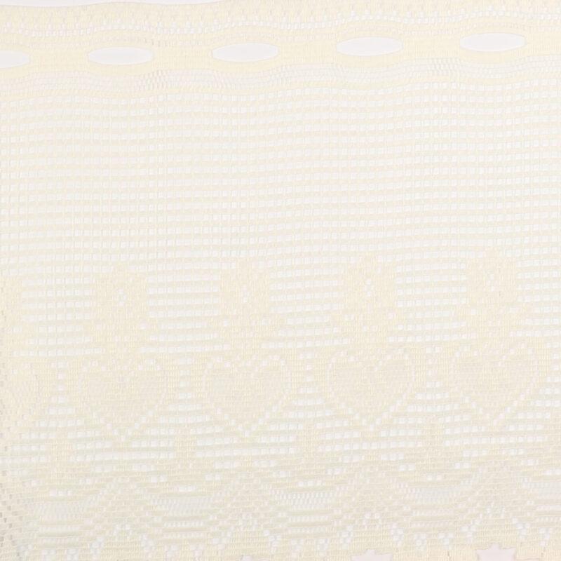 Cafégardin, flødefarvet - 35 cm høj -