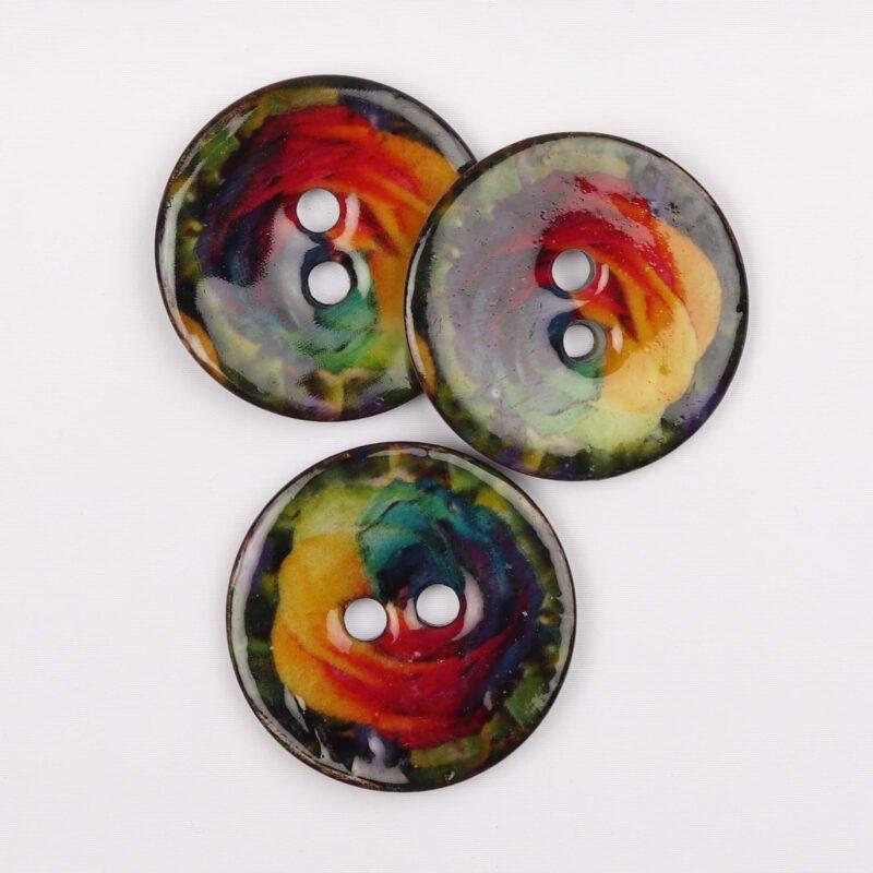 Multifarvet kokosknap - 40 mm -