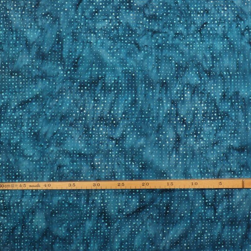 Blå nuancer m. prikker - Bali -
