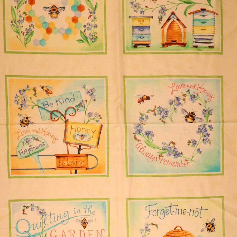 Honey bee garden - Patchwork rapport (85) -