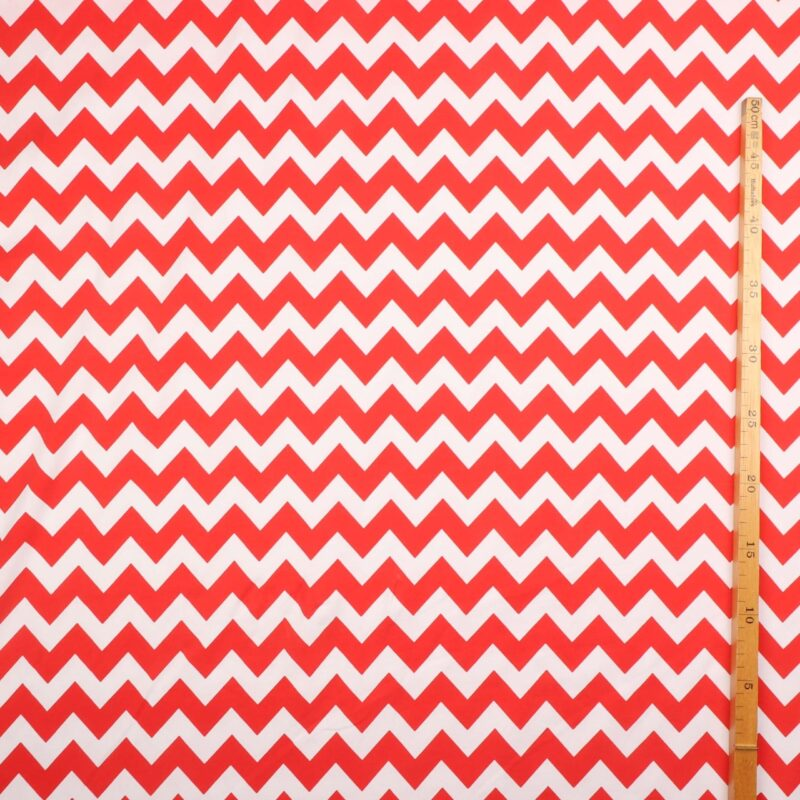 Jersey - ZigZag rød/hvid -