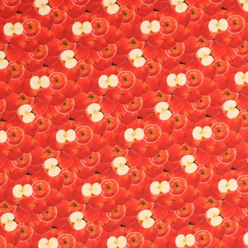 Røde æbler - Let bomuld -