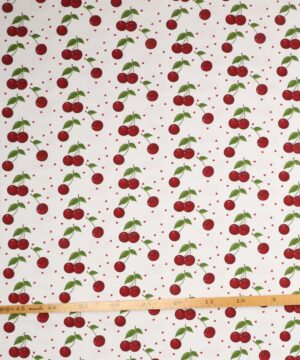 Kirsebær på hvid - Jersey -