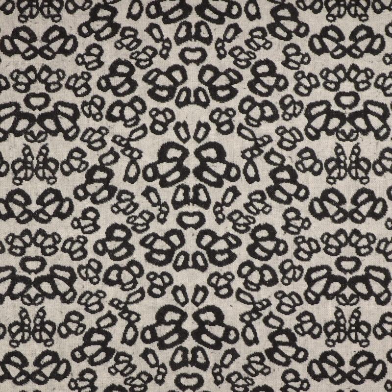 Sort og offwhite - Bomuld/polyester -