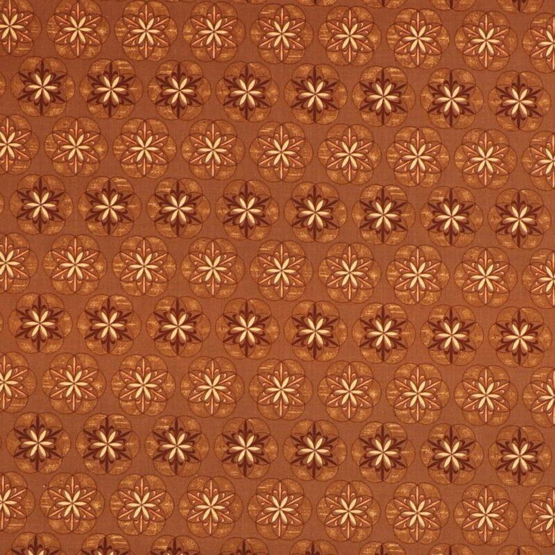 Patchwork - Mønster i brune nuancer -