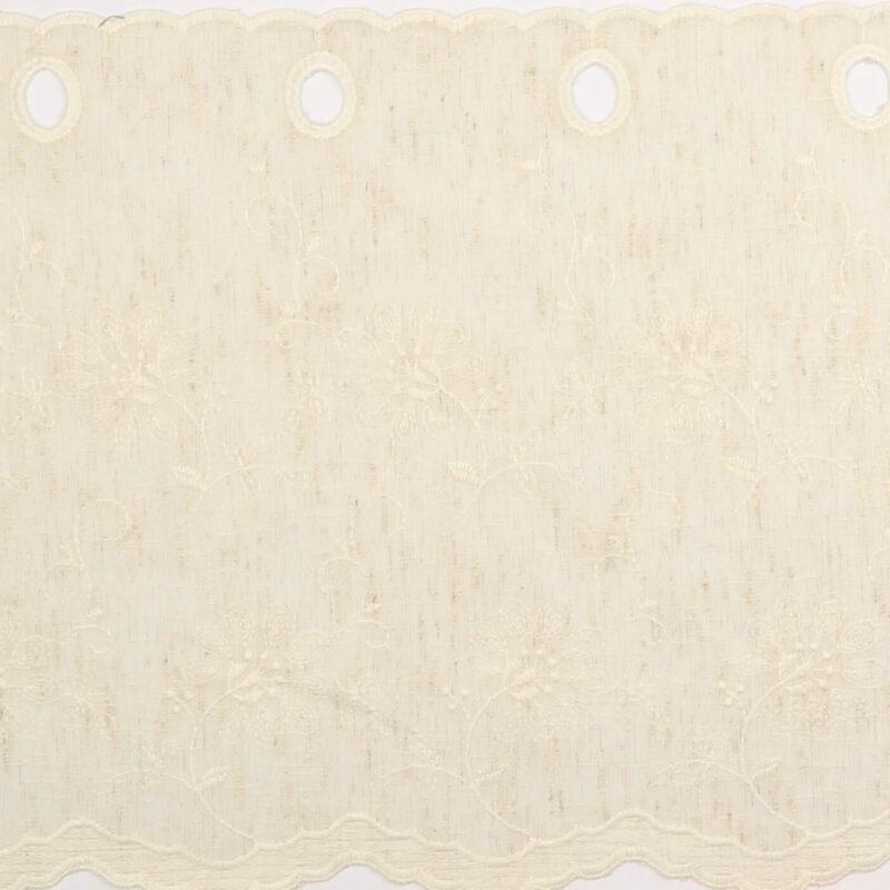 Cafégardin, creme - 35 cm høj - Info mangler