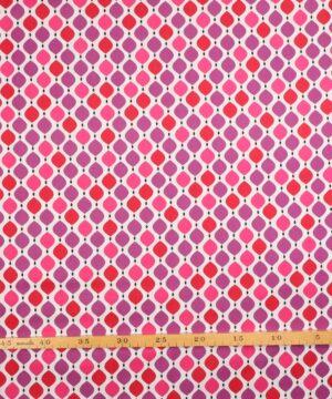 Patchwork - Rød og lilla - Info mangler
