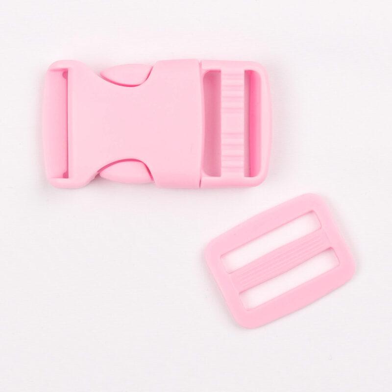 Klikspænde, 25 mm. lyserød -