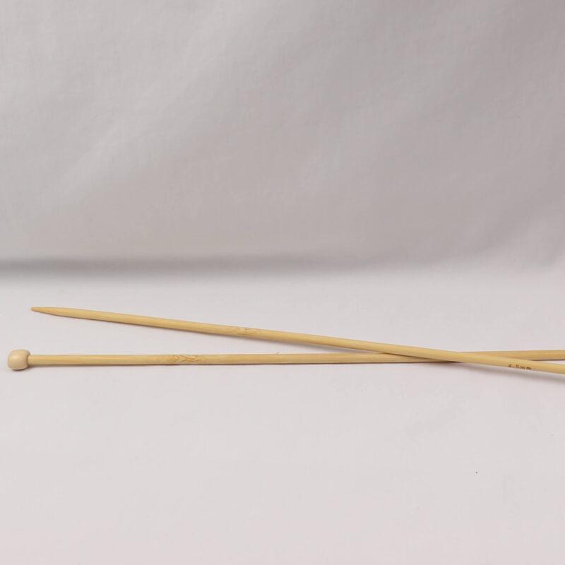 Strikkepind - Bambus 4,5 mm -