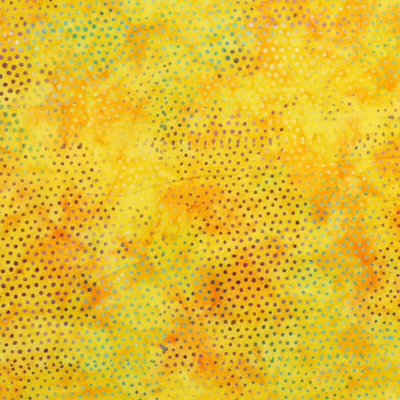 Multifarvet prikker på gul/orange - Bali -
