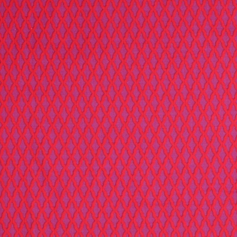 Patchwork - Lilla og rød - Info mangler