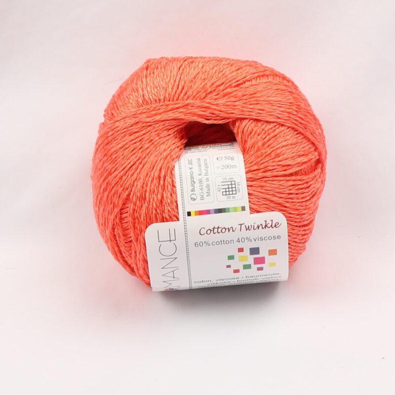 Cotton Twinkle, Bomuld/viskose - Koral fv 13 -