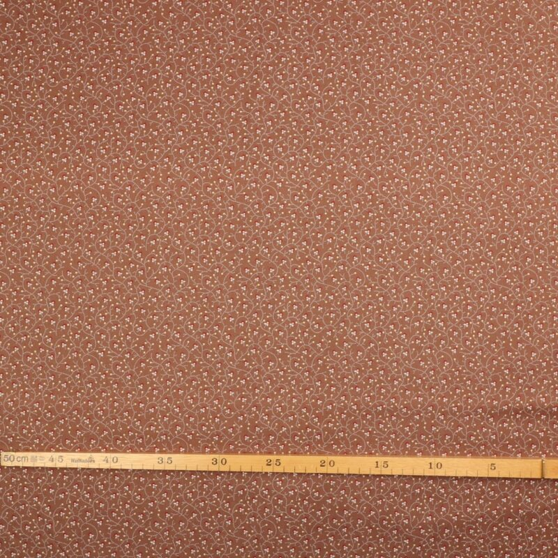 Småt mønster på lys brun bund - Patchwork -
