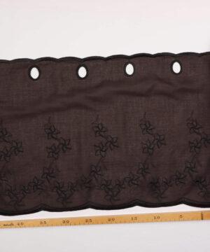 Cafégardin, sort - 35 cm høj -