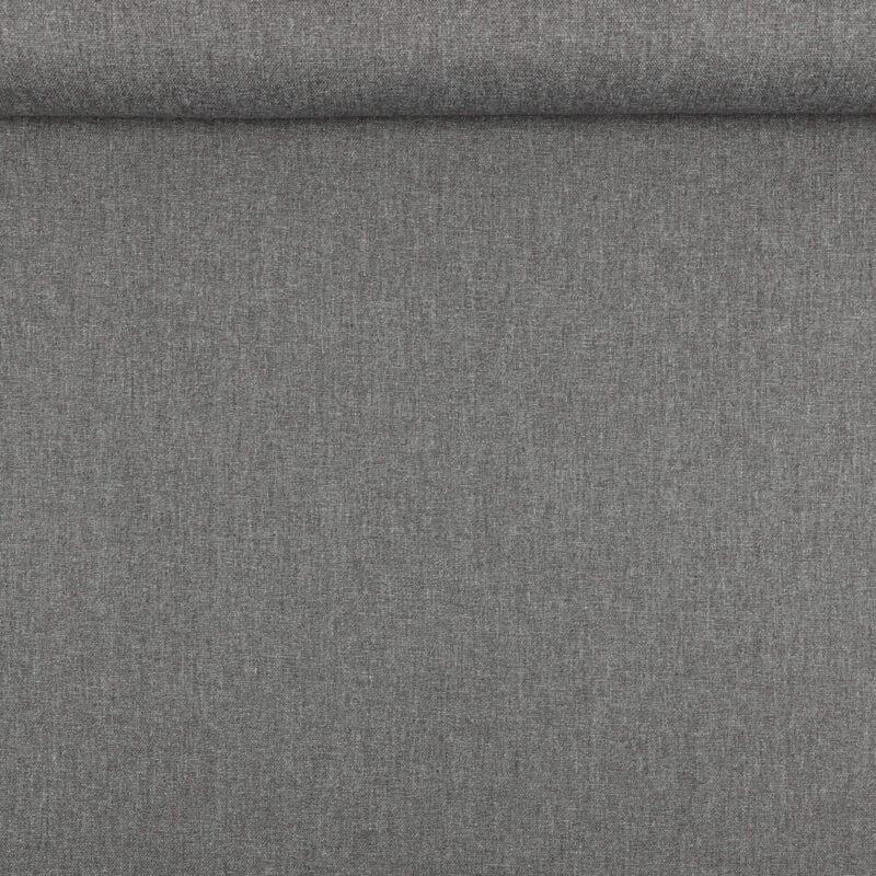 Mørk grå melange - Bomuld/polyester -