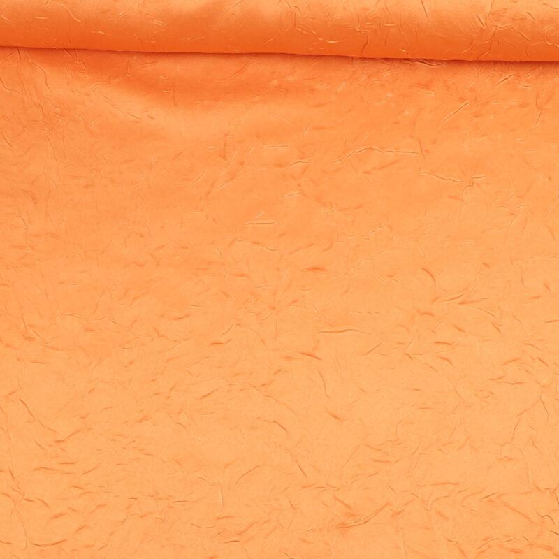Brændt orange m. krøleffekt - Bade/bruseforhæng -