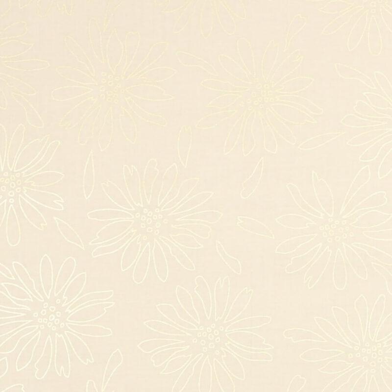 Patchwork - Guldblomster på flødefarvet bund - Info mangler