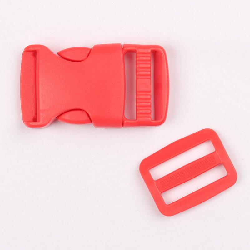Klikspænde, 25 mm. rød -