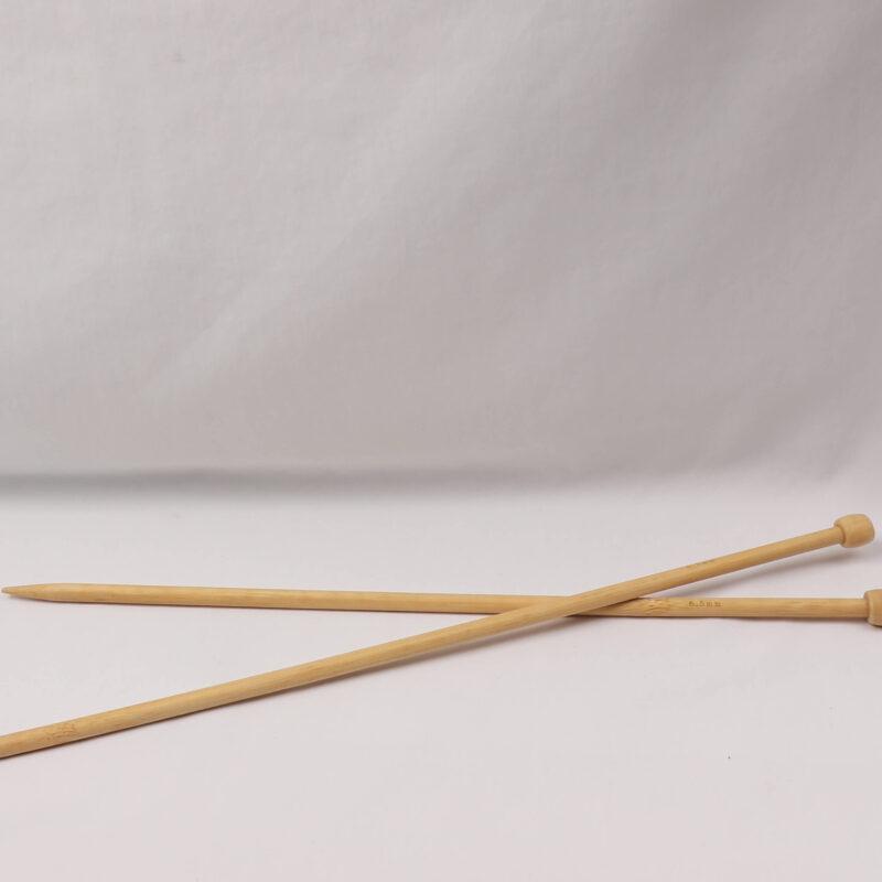 Strikkepind - Bambus 6,5 mm -