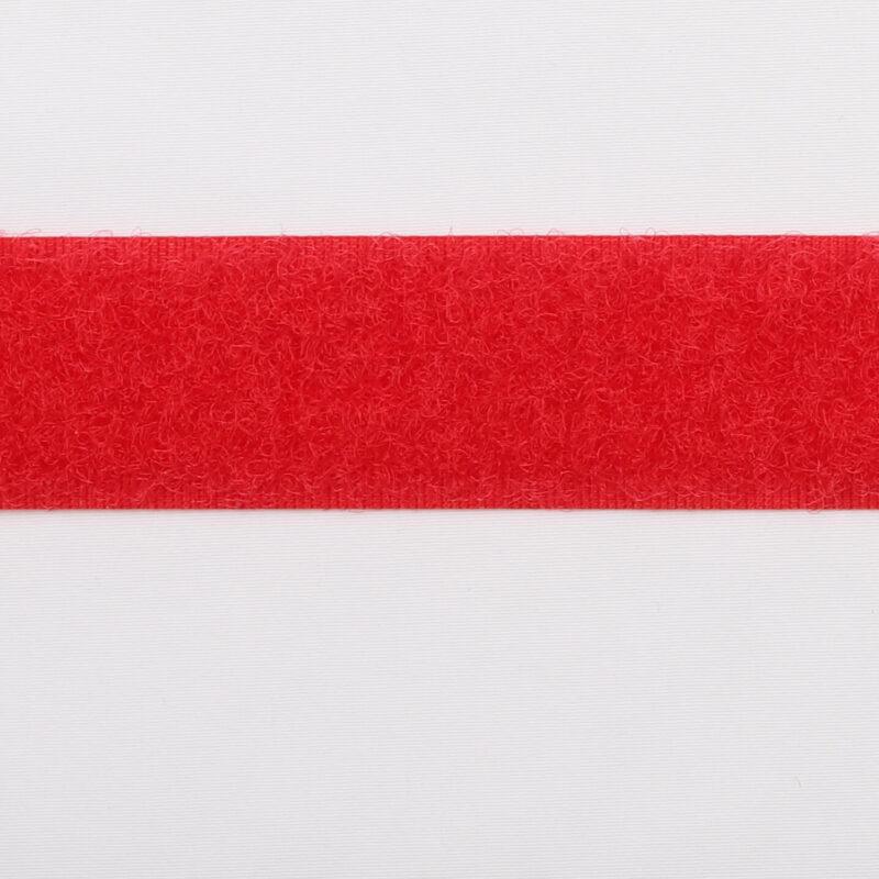 Rød - Velcro 20 mm, loop -