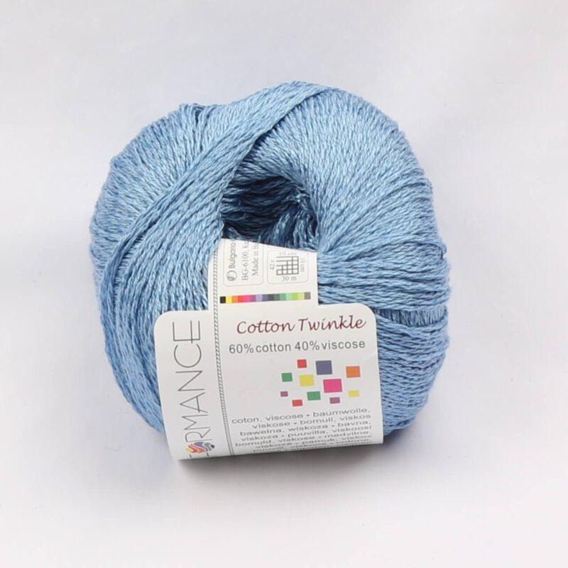 Cotton Twinkle, Bomuld/viskose - Lys blå fv 87 -