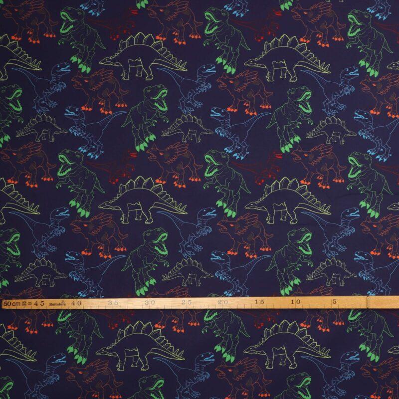 Dinoer på mørkeblå - Softshell -