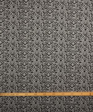 Bengalin - Sort, grå og lysegråt mønster -