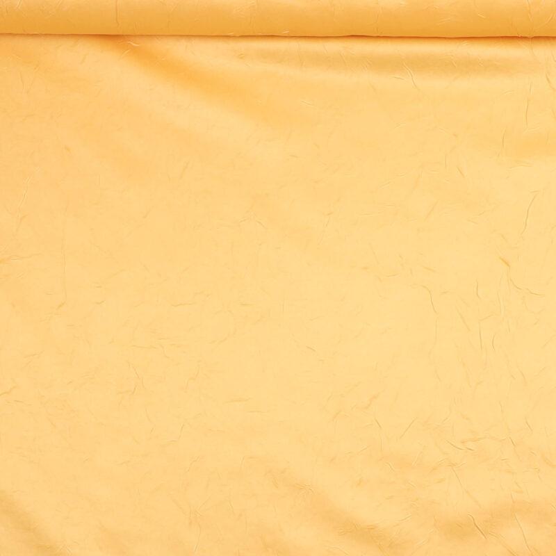 Orangegul m. krøleffekt - Bade/bruseforhæng -
