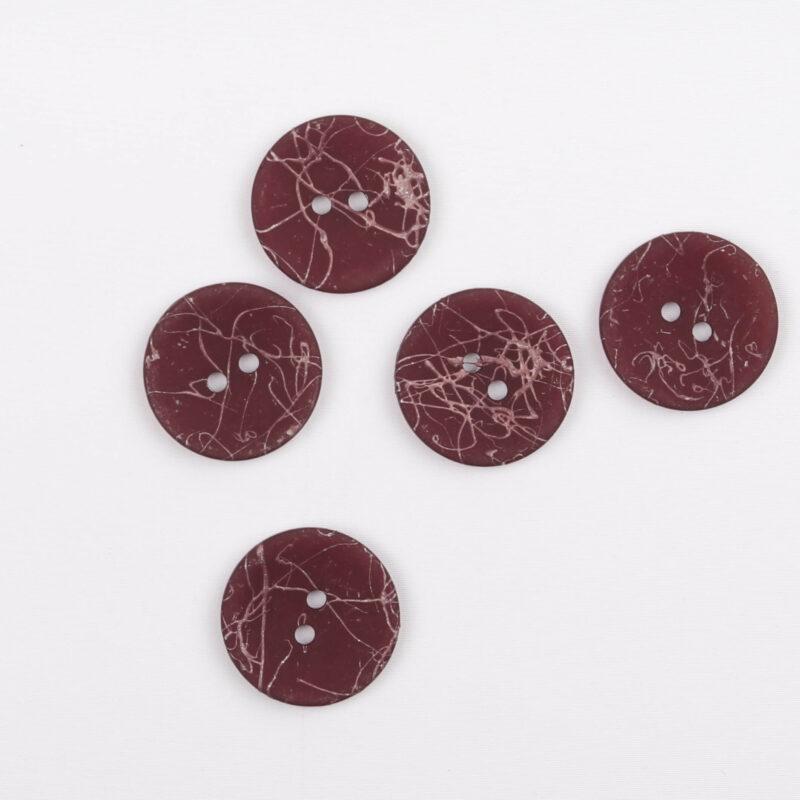 Bordeaux m. lyserød - 20 mm -