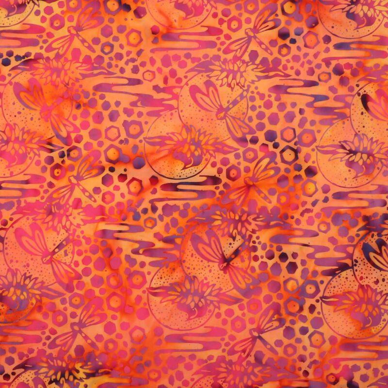 Ferskenfarvet m. guldsmed - Bali -
