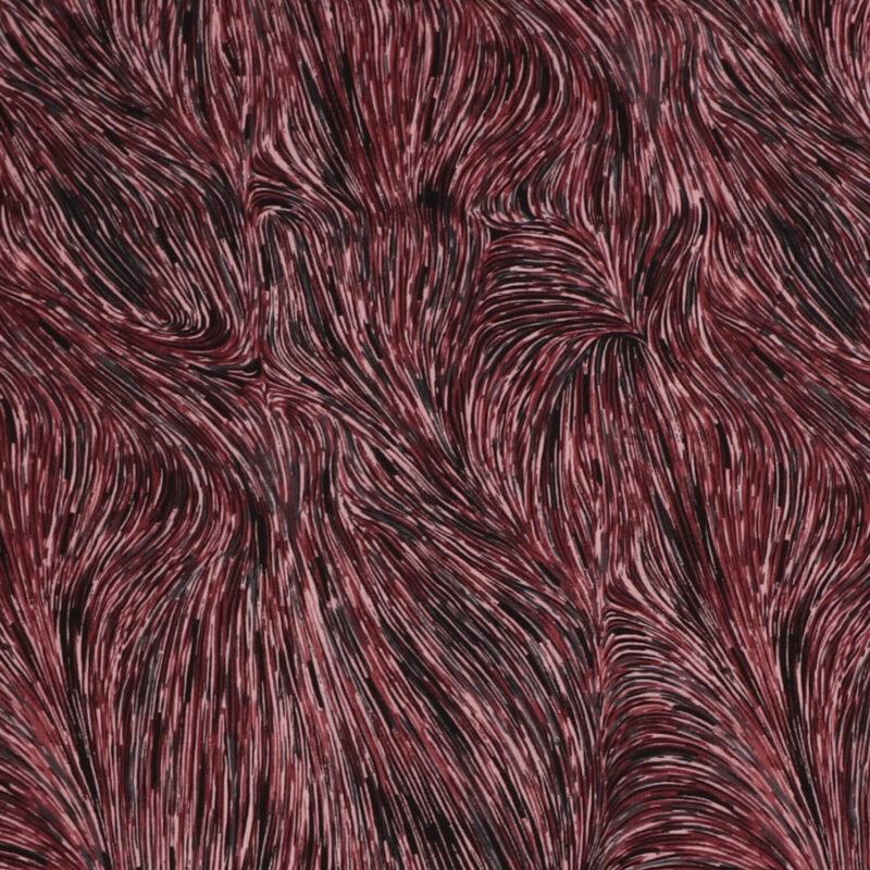 Mønster i rødlige nuancer - Viskose -