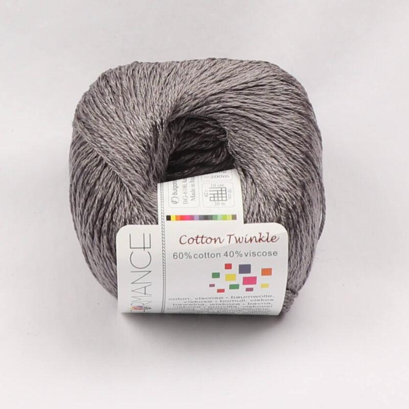 Cotton Twinkle, Bomuld/viskose - Grå fv 235 -