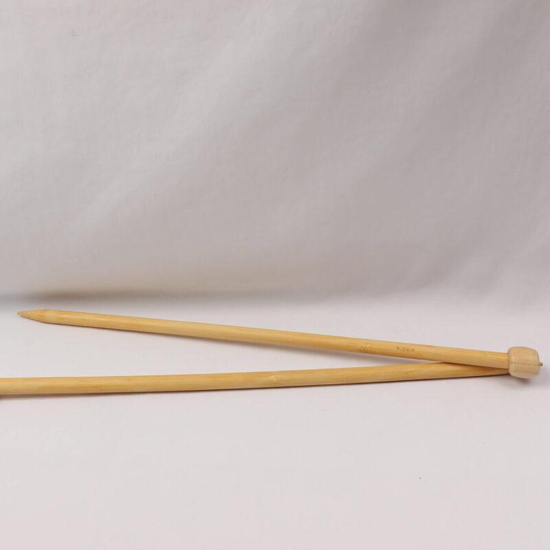 Strikkepind - Bambus 9 mm -