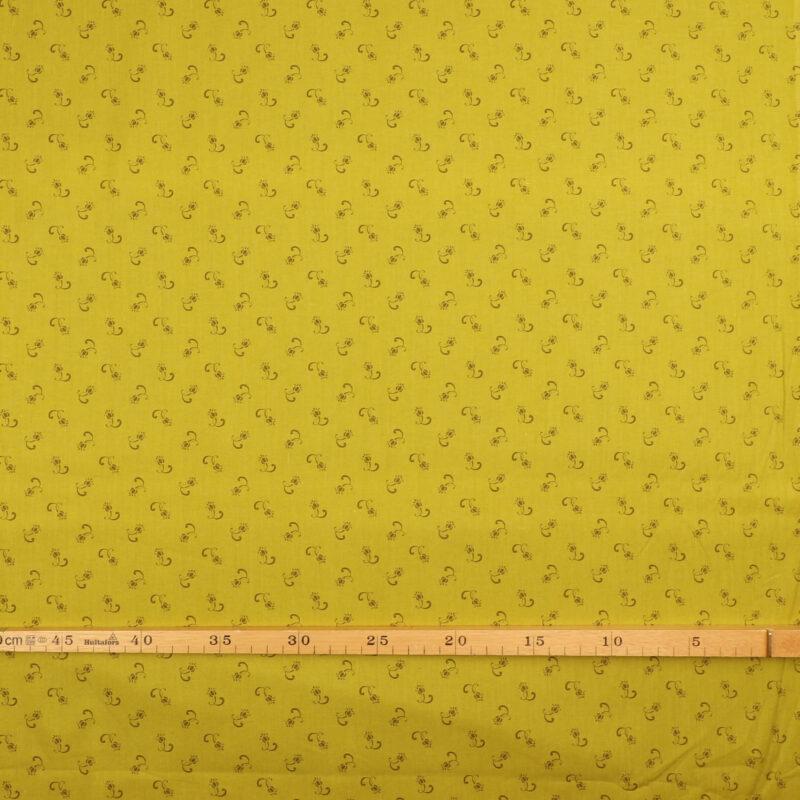 Patchwork - Småt mønster på lys limegrøn -