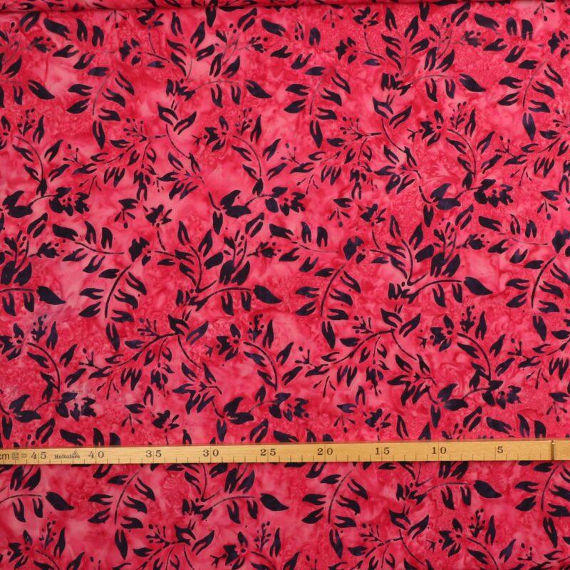 Pink m. marinblåt mønster - Bali -
