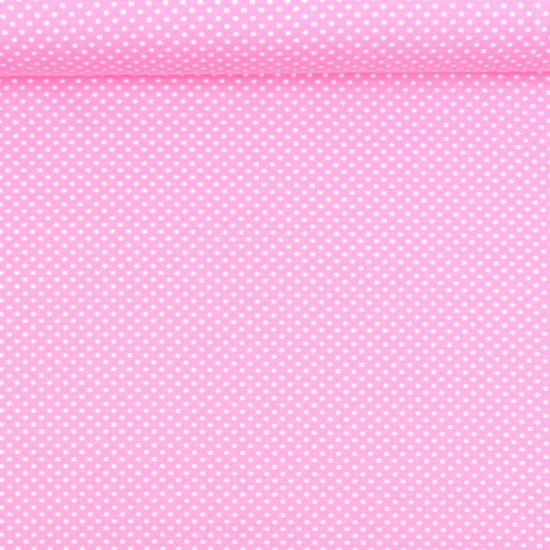 Prikker i hvid på lys pink - Jersey -