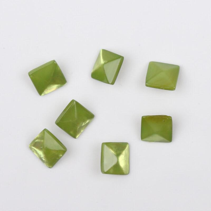 Lys grøn, 11x11 mm -