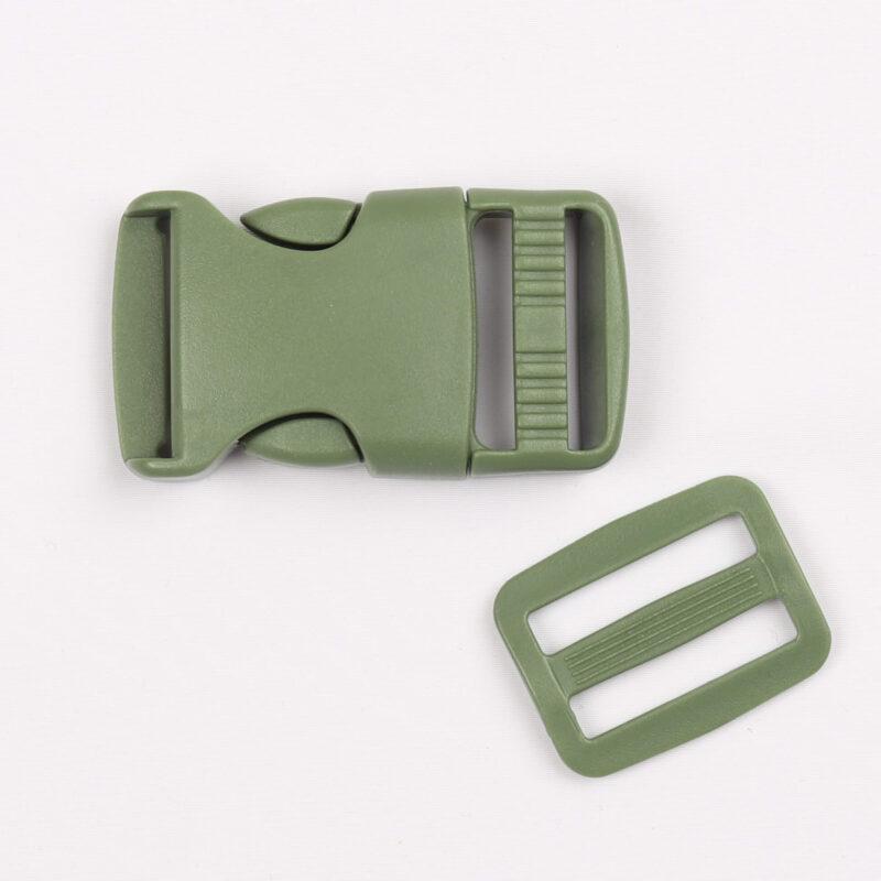 Klikspænde, 25 mm. armygrøn -